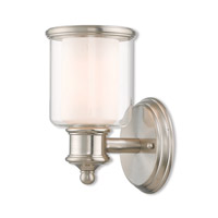 Livex 40211-91 Middlebush 1 Light 6 inch Brushed Nickel Wall Sconce Wall Light