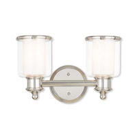 Livex Lighting Middlebush 2 Light Bath Vanity in Polished Nickel 40212-35