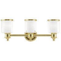 Livex Lighting 40213-02 Middlebush 3 Light 24 inch Polished Brass Bath Vanity Wall Light