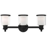 Livex 40213-04 Middlebush 3 Light 24 inch Black Vanity Sconce Wall Light