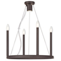 Livex Lighting Alpine 5 Light Chandelier in Bronze 40244-07
