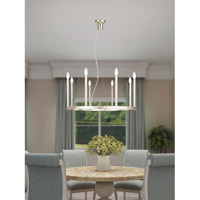 Livex 40247-35 Alpine 8 Light 28 inch Polished Nickel Chandelier Ceiling Light alternative photo thumbnail