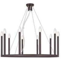 Livex 40248-07 Alpine 11 Light 32 inch Bronze Chandelier Ceiling Light