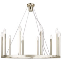 Livex 40248-35 Alpine 10 Light 32 inch Polished Nickel Chandelier Ceiling Light