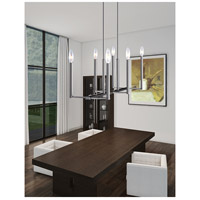 Livex Lighting Alpine 6 Light Linear Chandelier in Brushed Nickel 40256-91