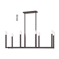 Livex Lighting Alpine 8 Light Linear Chandelier in Bronze 40258-07