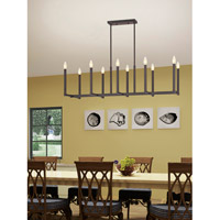 Livex 40259-07 Alpine 10 Light 43 inch Bronze Linear Chandelier Ceiling Light alternative photo thumbnail