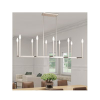 Livex 40259-35 Alpine 10 Light 43 inch Polished Nickel Linear Chandelier Ceiling Light alternative photo thumbnail