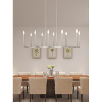 Livex 40259-91 Alpine 10 Light 43 inch Brushed Nickel Linear Chandelier Ceiling Light alternative photo thumbnail