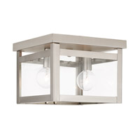 Livex Milford 2 Light Flush Mount in Brushed Nickel 4031-91