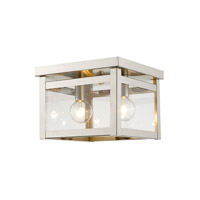 Milford 2 Light 8 inch Brushed Nickel Flush Mount Ceiling Light