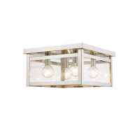 Milford 4 Light 11 inch Brushed Nickel Flush Mount Ceiling Light