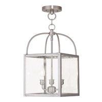 Milford 3 Light 10 inch Brushed Nickel Convertible Chain Hang Ceiling Light