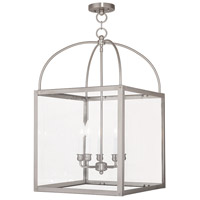 Livex 4038-91 Milford 5 Light 18 inch Brushed Nickel Foyer Lantern Ceiling Light