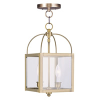 Livex Lighting Milford 2 Light Pendant/Ceiling Mount in Antique Brass 4041-01