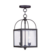 Livex 4041-04 Milford 2 Light 8 inch Black Pendant/Ceiling Mount Ceiling Light photo thumbnail