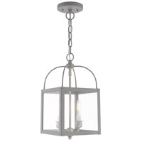 Livex 4041-80 Milford 2 Light 8 inch Nordic Gray Convertible Mini Pendant Ceiling Light