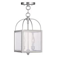 Livex Lighting Milford 2 Light Pendant/Ceiling Mount in Brushed Nickel 4041-91
