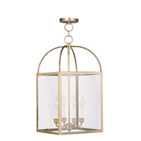Livex Lighting Milford 4 Light Pendant in Antique Brass 4042-01