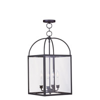 Livex Lighting Milford 4 Light Pendant in Black 4042-04