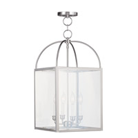 Livex Lighting 4042-91 Milford 4 Light 13 inch Brushed Nickel Chain Lantern
