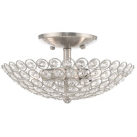 Livex 40441-91 Cassandra 2 Light 11 inch Brushed Nickel Flush Mount Ceiling Light