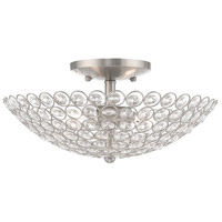 Livex 40443-91 Cassandra 2 Light 13 inch Brushed Nickel Flush Mount Ceiling Light
