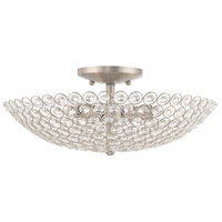 Livex 40446-91 Cassandra 3 Light 16 inch Brushed Nickel Flush Mount Ceiling Light