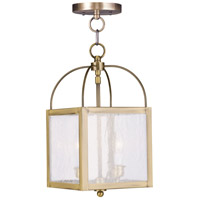 Milford 2 Light 8 inch Antique Brass Pendant/Ceiling Mount Ceiling Light