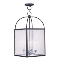 Livex Lighting Milford 4 Light Pendant in Black 4046-04