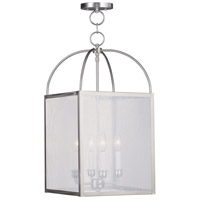 Livex Lighting Milford 4 Light Pendant in Brushed Nickel 4046-91