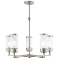 Livex 40475-91 Hillcrest 5 Light 26 inch Brushed Nickel Chandelier Ceiling Light
