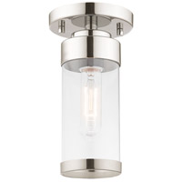 Livex 40480-05 Hillcrest 1 Light 5 inch Polished Chrome Flush Mount Ceiling Light