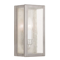 Milford 1 Light 12 inch Brushed Nickel ADA Wall Sconce Wall Light in Clear