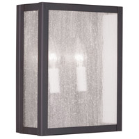 Milford 2 Light 9 inch Bronze Wall Sconce Wall Light in Clear Seeded