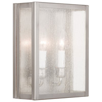 Milford 2 Light 12 inch Brushed Nickel ADA Wall Sconce Wall Light in Clear