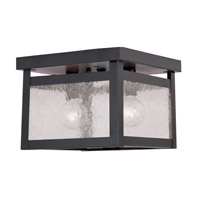 Milford 2 Light 8 inch Bronze Ceiling Mount Ceiling Light in Clear Seeded