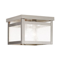 Livex Milford 2 Light Flush Mount in Brushed Nickel 4051-91