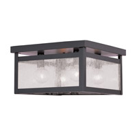 Milford 4 Light 11 inch Bronze Ceiling Mount Ceiling Light in Clear Seeded