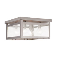 Livex Milford 4 Light Flush Mount in Brushed Nickel 4052-91