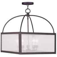 Livex 4057-07 Milford 5 Light 18 inch Bronze Chandelier Ceiling Light in Clear Seeded photo thumbnail