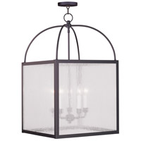 Milford 5 Light 18 inch Bronze Chandelier Ceiling Light in Clear Seeded