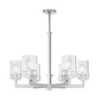 Livex 40596-05 Harding 6 Light 29 inch Polished Chrome Chandelier Ceiling Light