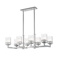 Livex 40598-05 Harding 8 Light 40 inch Polished Chrome Linear Chandelier Ceiling Light