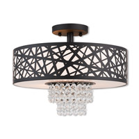 Allendale 3 Light 15 inch Bronze Semi Flush Mount Ceiling Light