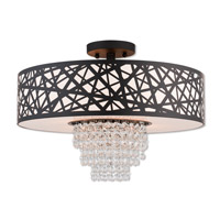 Livex 40664-07 Allendale 4 Light 18 inch Bronze Semi Flush Mount Ceiling Light