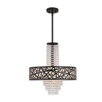 Livex 40665-07 Allendale 4 Light 18 inch Bronze Pendant Chandelier Ceiling Light