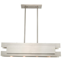 Varick 4 Light 36 inch Brushed Nickel Linear Chandelier Ceiling Light