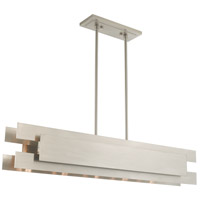 Varick 5 Light 46 inch Brushed Nickel Linear Chandelier Ceiling Light