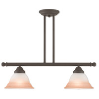 Livex Lighting Wynnewood 2 Light Linear Chandelier in Bronze 40722-07